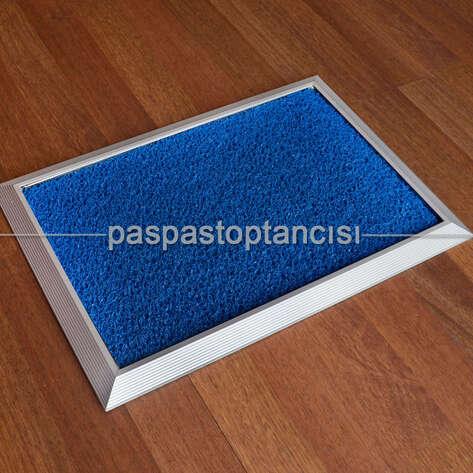 Paspas Toptancısı - Alüminyum Paspas Kıvırcık Hijyen Paspas HM1000 Mavi (1)