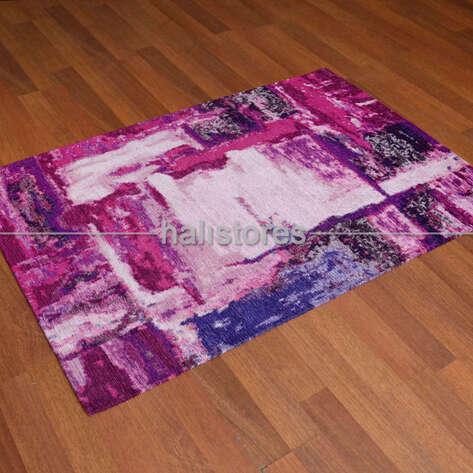 - Modern Desenli Renkli Baskılı Halı SM 01 Lila (1)