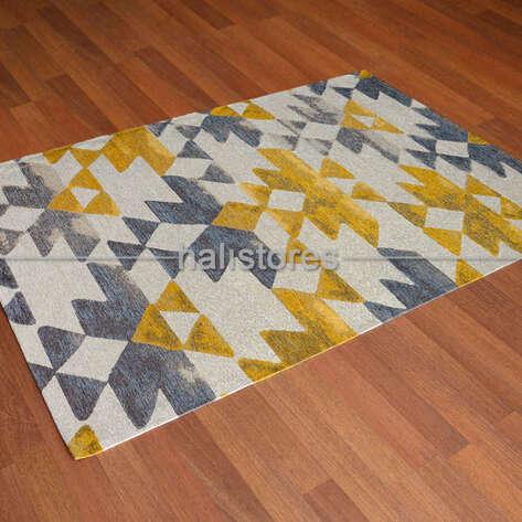 - Modern Desenli Renkli Baskılı Halı SM 11 Sarı (1)