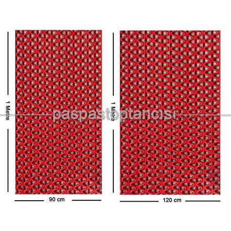 Paspas Toptancısı - Z Mat Islak Zemin Paspası Eko 4 mm Kırmızı (1)