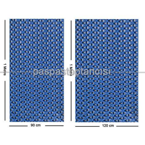 Paspas Toptancısı - Z Mat Islak Zemin Paspası Süper 7 mm Mavi (1)
