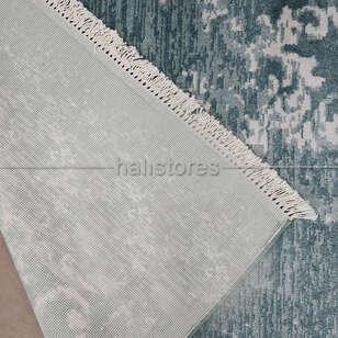 %100 Bambu Özel Tezgah Halısı HDX 01 Turkuaz - Thumbnail