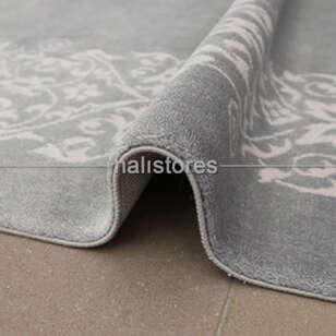 %100 Bambu Özel Tezgah Halısı HDX 11 Gri - Thumbnail