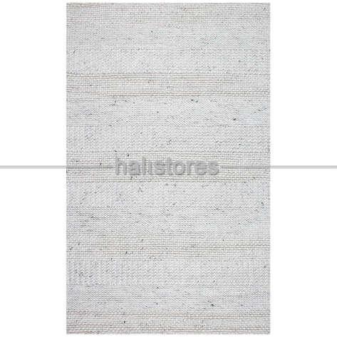 - %100 Doğal Yün Örgü Halı Jade J352 Beyaz (1)