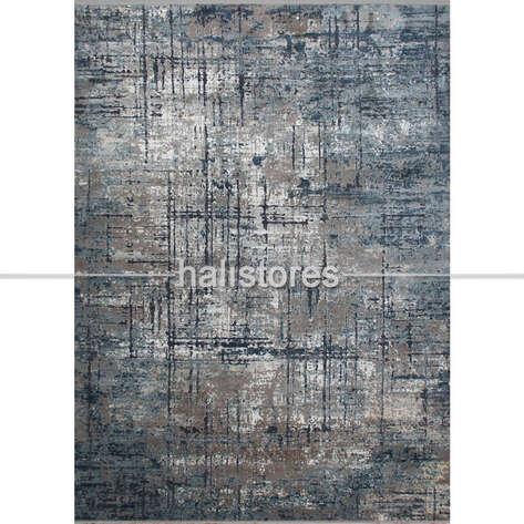 Liviadora - %100 Viskon İpek Dokulu Lüks Halı 03 Gri Mavi (1)