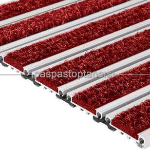 Paspas Toptancısı - Alüminyum Metal Paspas Bukle Halı Fitilli PM1000 Kırmızı (1)