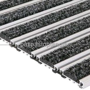 Paspas Toptancısı - Alüminyum Metal Paspas Bukle Halı Fitilli PM1000 Siyah (1)