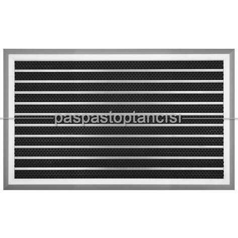 Paspas Toptancısı - Alüminyum Metal Paspas Fırça Fitilli UM5000 Siyah (1)