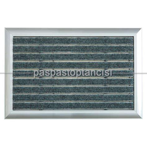 Paspas Toptancısı - Alüminyum Metal Paspas Halı Fitilli Gri (1)