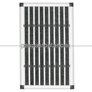 Paspas Toptancısı - Alüminyum Paspas Bukle Halı Fitilli EM1000 Siyah (1)