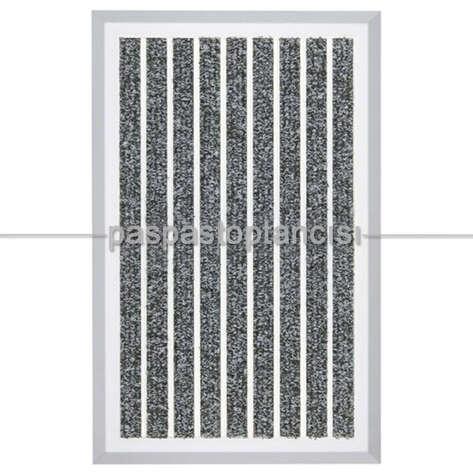 Paspas Toptancısı - Alüminyum Paspas Bukle Halı Fitilli OM1000 Gri (1)