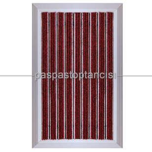 Paspas Toptancısı - Alüminyum Paspas Bukle Halı Fitilli OM1000 Kırmızı (1)