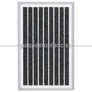 Paspas Toptancısı - Alüminyum Paspas Bukle Halı Fitilli OM1000 Siyah (1)