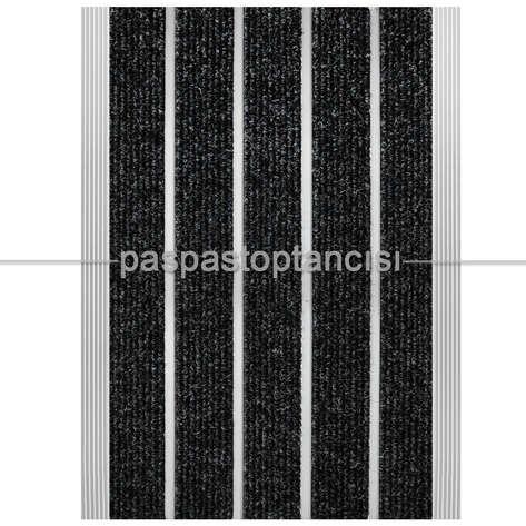 Paspas Toptancısı - Alüminyum Paspas Bukle Halı Fitilli SM1000 Gri (1)