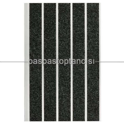 Paspas Toptancısı - Alüminyum Paspas Bukle Halı Fitilli SM1000 Siyah (1)