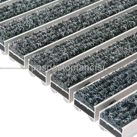 Paspas Toptancısı - Alüminyum Paspas Bukle Halı Fitilli UM1000 Gri (1)