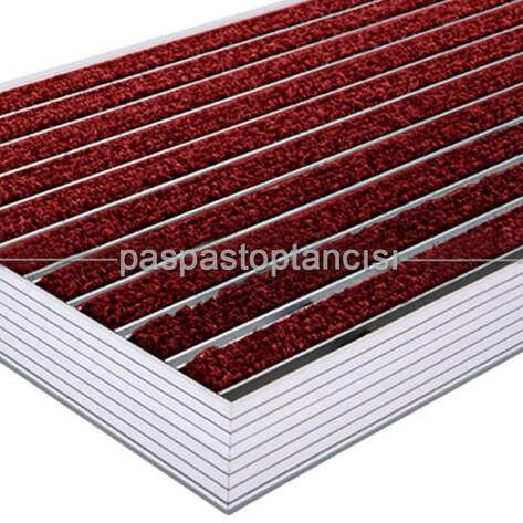 Alüminyum Paspas Bukle Halı Fitilli UM1000 Kırmızı