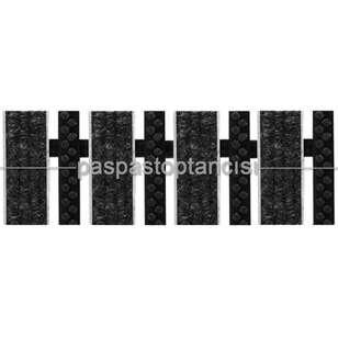 Paspas Toptancısı - Alüminyum Paspas Bukle Halı Fitilli ve Plastik Fırçalı UM1060 Siyah (1)
