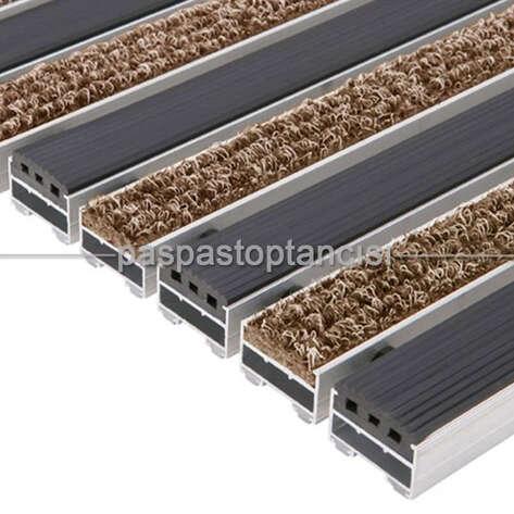 Alüminyum Paspas Bukle Halı Fitilli ve Yivli PVC Fitilli UM1020 Bej