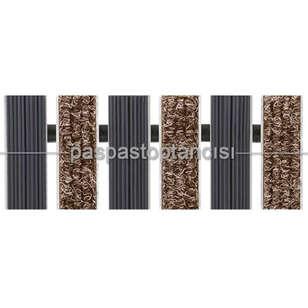 Paspas Toptancısı - Alüminyum Paspas Bukle Halı Fitilli ve Yivli PVC Fitilli UM1020 Bej (1)