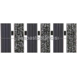 Paspas Toptancısı - Alüminyum Paspas Bukle Halı Fitilli ve Yivli PVC Fitilli UM1020 Gri (1)