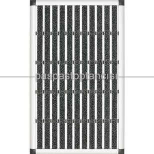Paspas Toptancısı - Alüminyum Paspas Exclusive Fitilli EM3000 Gri (1)