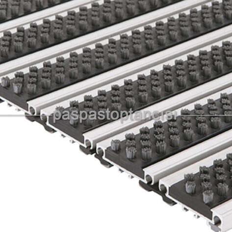 Paspas Toptancısı - Alüminyum Paspas Fırça Fitilli PM4000 Siyah (1)