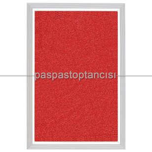 Paspas Toptancısı - Alüminyum Paspas Kıvırcık Hijyen Paspas HM1000 Kırmızı (1)