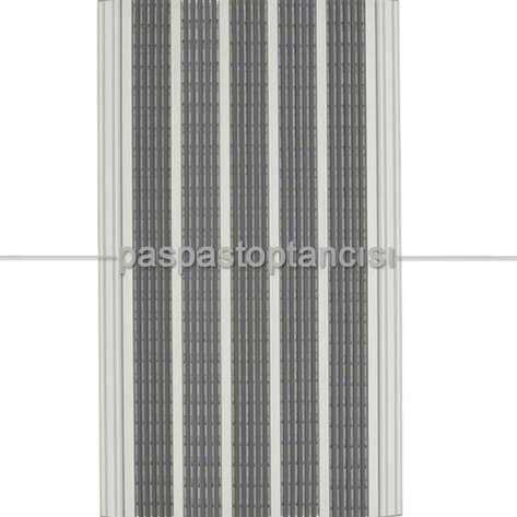 Paspas Toptancısı - Alüminyum Paspas Yivli PVC Fitilli DM9000 Gri (1)