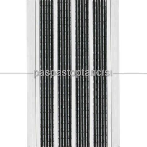 Paspas Toptancısı - Alüminyum Paspas Yivli PVC Fitilli DM9000 Siyah (1)