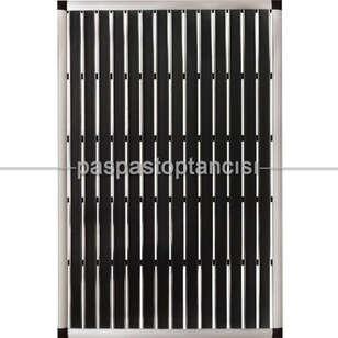 Paspas Toptancısı - Alüminyum Paspas Yivli PVC Fitilli EM2000 Siyah (1)