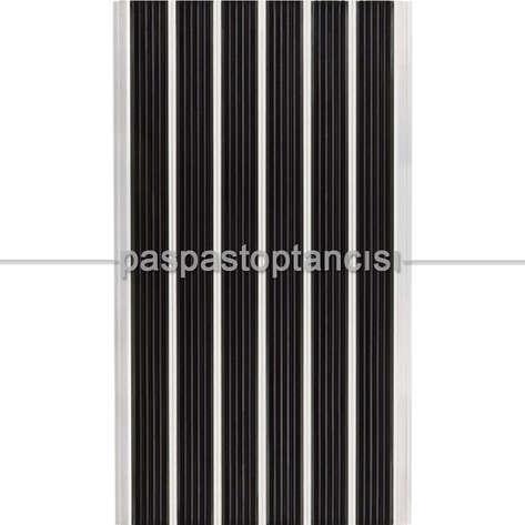 Paspas Toptancısı - Alüminyum Paspas Yivli Termoplastik Fitilli DM8000 Siyah (1)