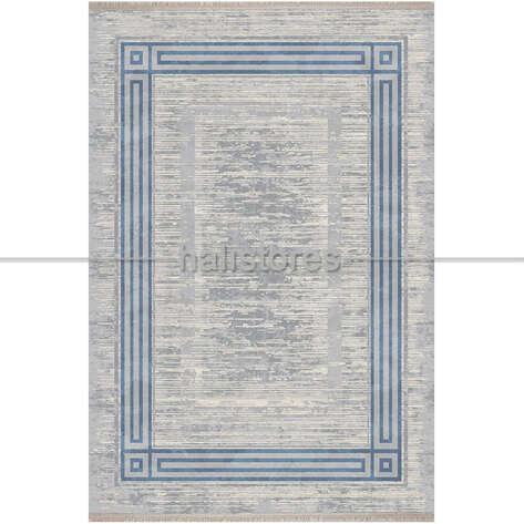 Bahariye Halı - Bahariye Çerçeveli Modern Halı Eva 5626 Gri-Mavi (1)