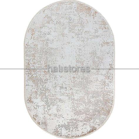 Bahariye Halı - Bahariye Oval Halı Ezgi 5657 Beyaz-Vizon (1)