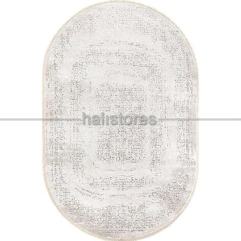 Bahariye Halı - Bahariye Oval Halı Ezgi 5660 Beyaz-Kahve (1)