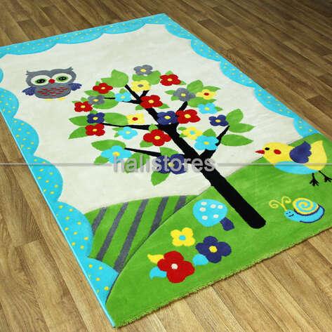 Halıstores - Bahçeli Çocuk Halısı Kids Mavi 995 (1)