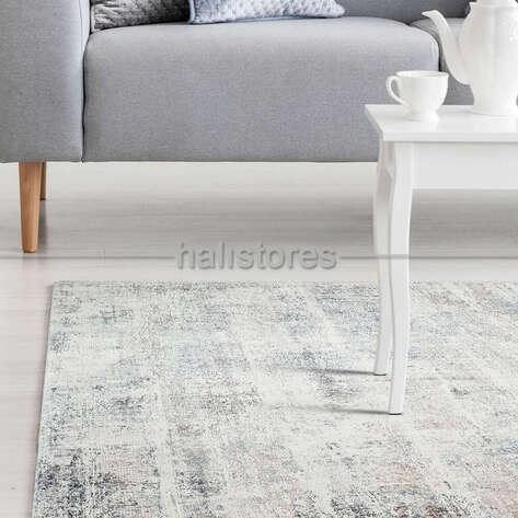 Halıstores - Bambu Yolluk Halı Fresco FS 06 Bej-Mavi (1)