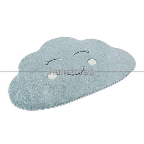 Halıstores - Bulut Desenli Mavi Bebek ve Çocuk Halısı (1)