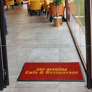 Paspas Toptancısı - Cafe ve Restaurant Logolu Paspas (1)