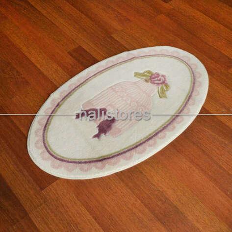 Confetti Halı - Confetti 2li Kaymaz Klozet Takımı Bird Cage Pembe (1)