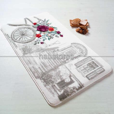 Confetti Halı - Confetti 2li Klozet Takımı Rose Basket Gri (1)