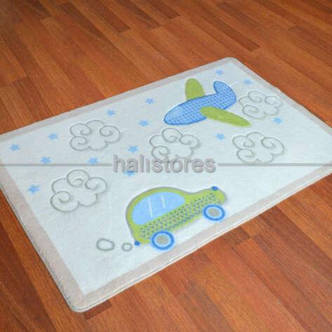 Confetti Halı - Confetti Baby Road Halı Beyaz (1)