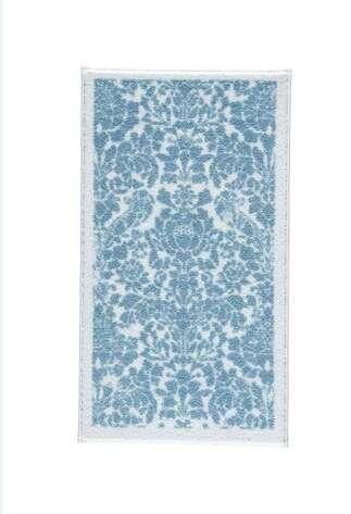 Confetti Halı - Confetti Banyo Halısı Antik Stencıl Mavi (1)