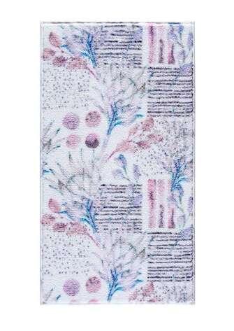Confetti Halı - Confetti Banyo Halısı Artichoke Flower Beyaz (1)