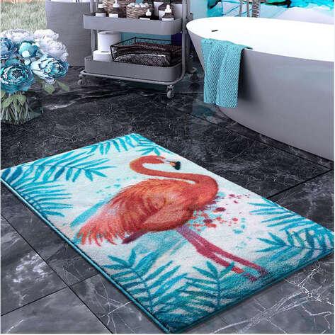 Confetti Halı - Confetti Banyo Halısı Flamingo Turkuaz (1)