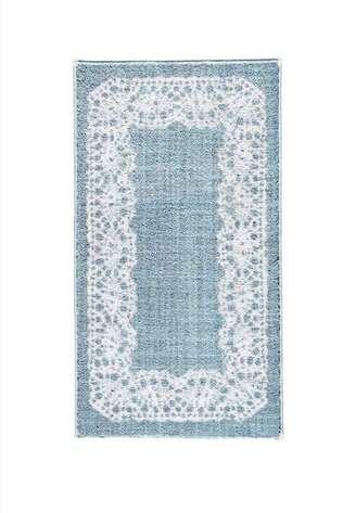 Confetti Halı - Confetti Banyo Halısı Lace Antik Mavi (1)