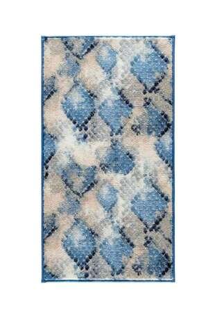 Confetti Halı - Confetti Banyo Halısı Snakeskin Mavi (1)