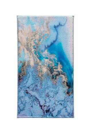 Confetti Halı - Confetti Banyo Halısı Water Foam Mavi (1)