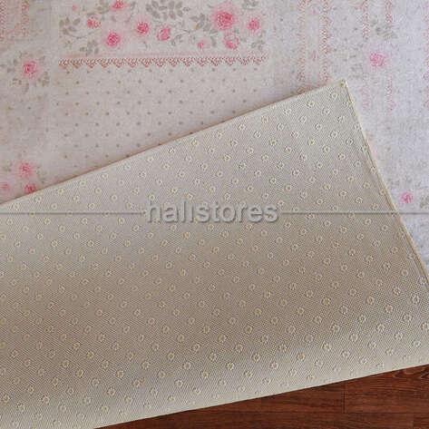 Confetti Baskılı Yolluk Halı Romantic Patch Mint Yeşili