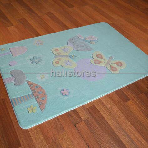 Confetti Halı - Confetti Bebek Odası Halısı Butterfly Effect Mint (1)